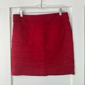 Vivienne Tam Ponte Knit Red Bandage Mini Skirt
